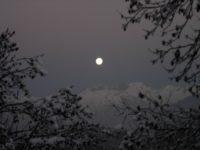 Une randonnée nocturne en raquettes à neige